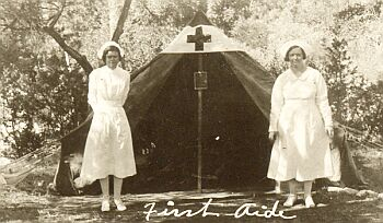 Camp nurses in 1936