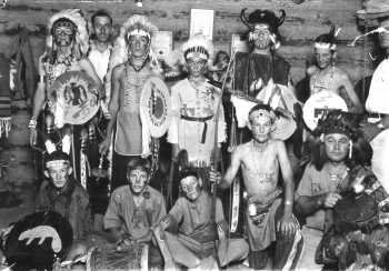 Order of the Black Arrow at Lucas Cabin in 1932.