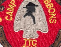 Close up showing ZS on Summer Camp Patch